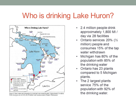 Who is drinking Lake Huron?