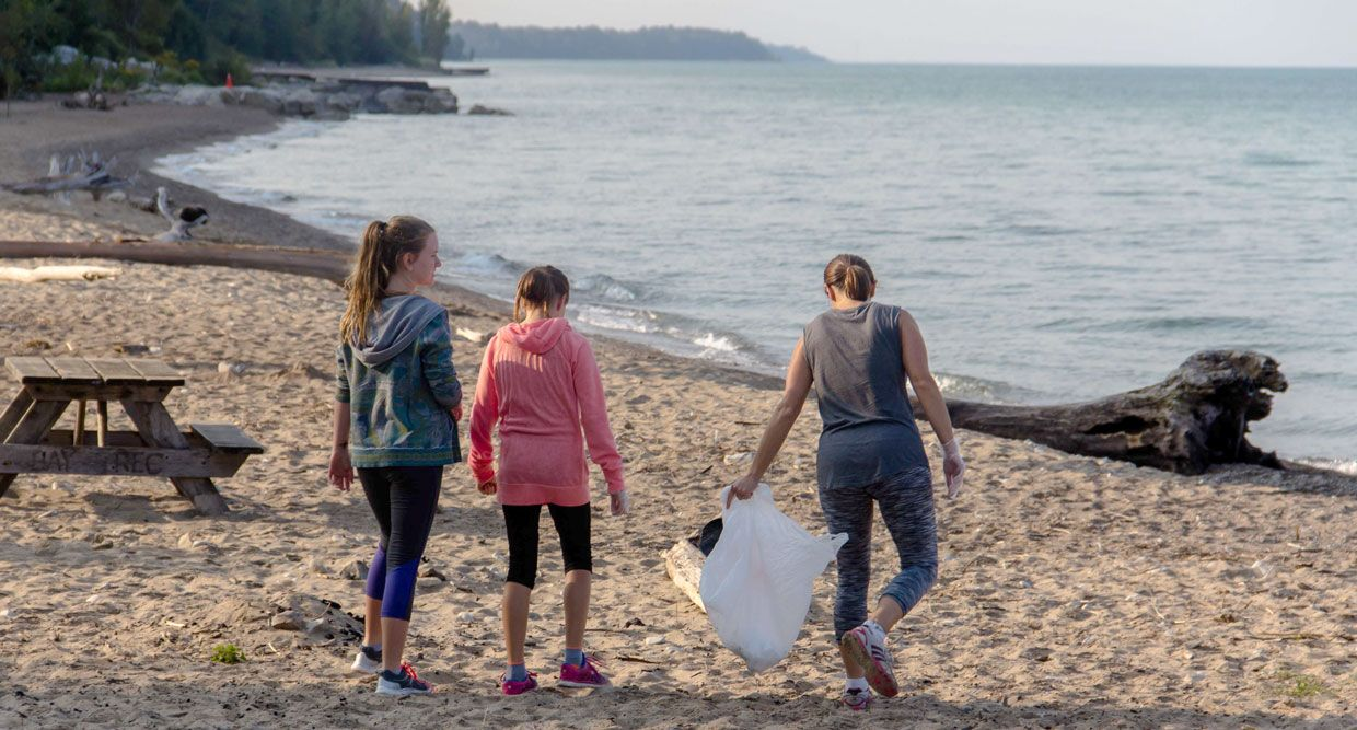 Photo by Jack Pal. Brandon J. Lemieux Memorial Beach Cleanup in Bayfield, Ontario, Canada on September 16, 2017.