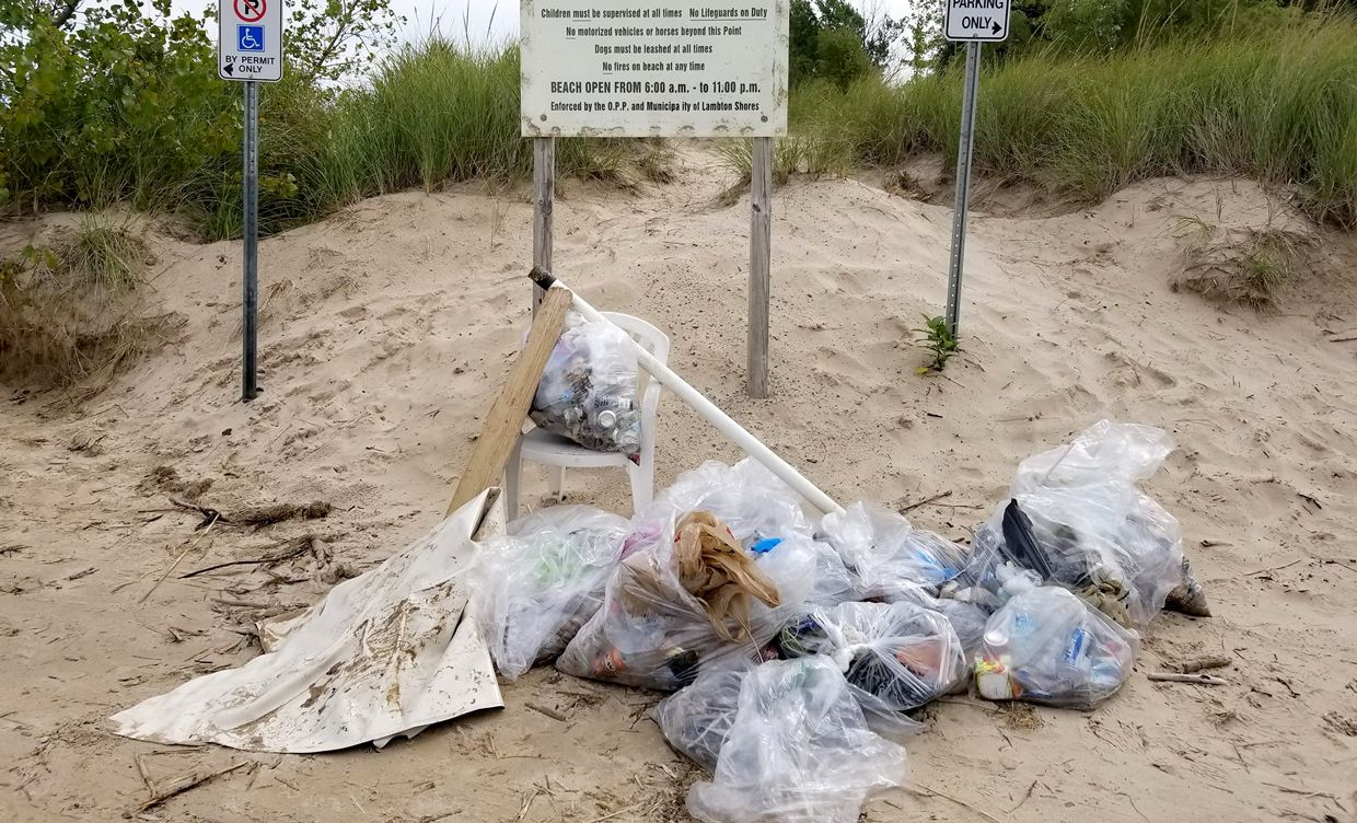 People in watersheds along Lake Huron's southeast shore are helping to keep our beaches and water clean.