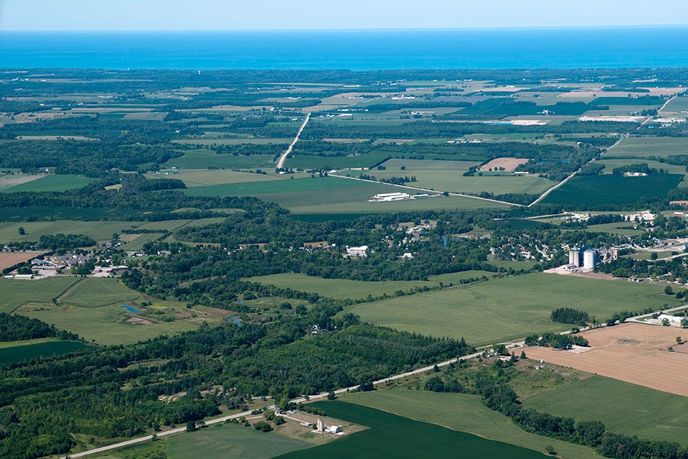 Part of the diverse landscape of the Lake Huron basin.  Photo: Courtesy of Dan Holm/The Word & Image Studio.